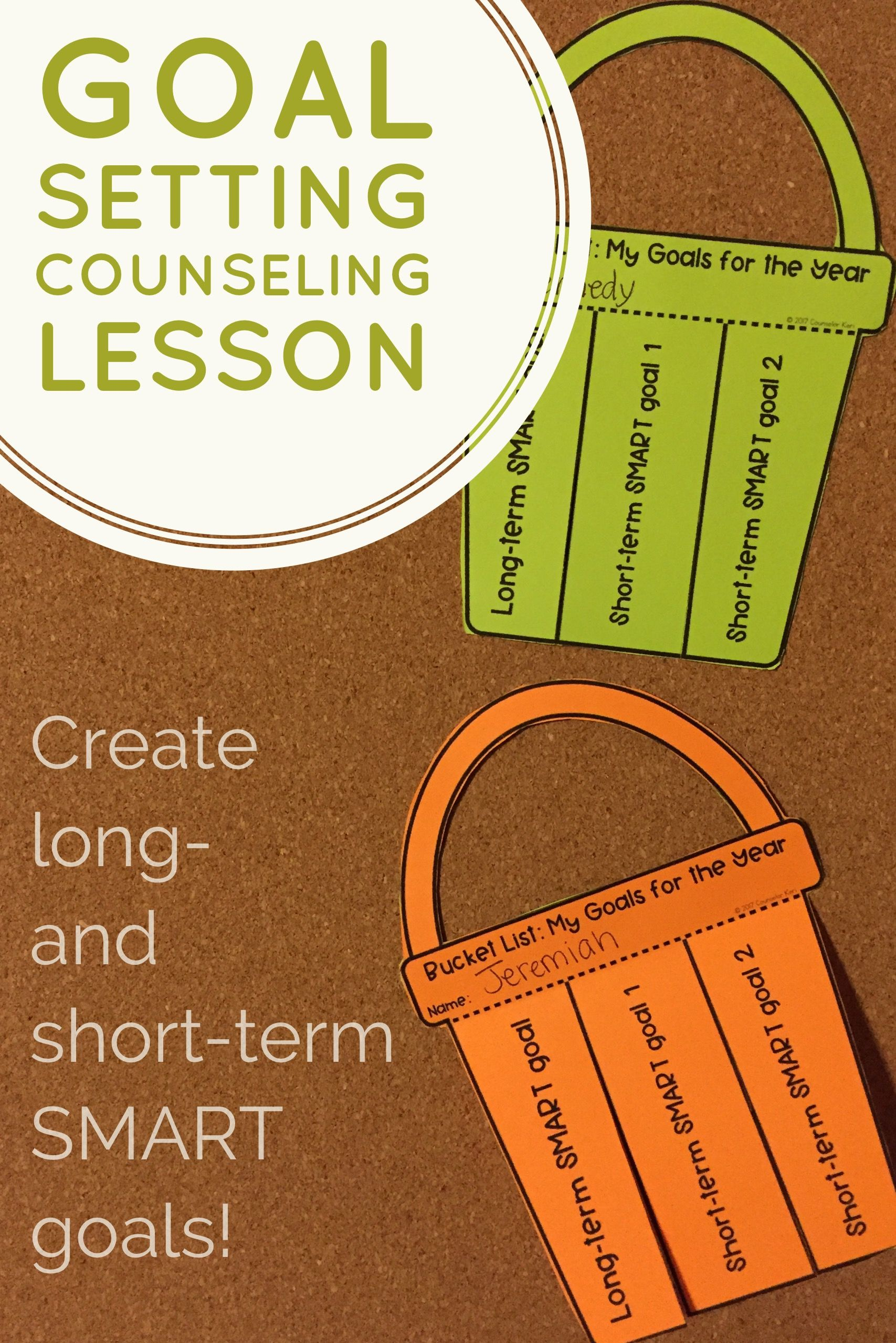 counseling goals examples