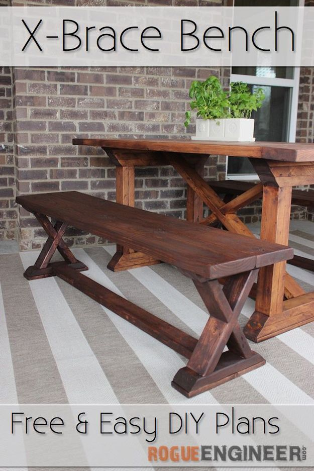 Cool Outdoor Woodworking Project Ideas Diy Bench Idea By Diy Ready