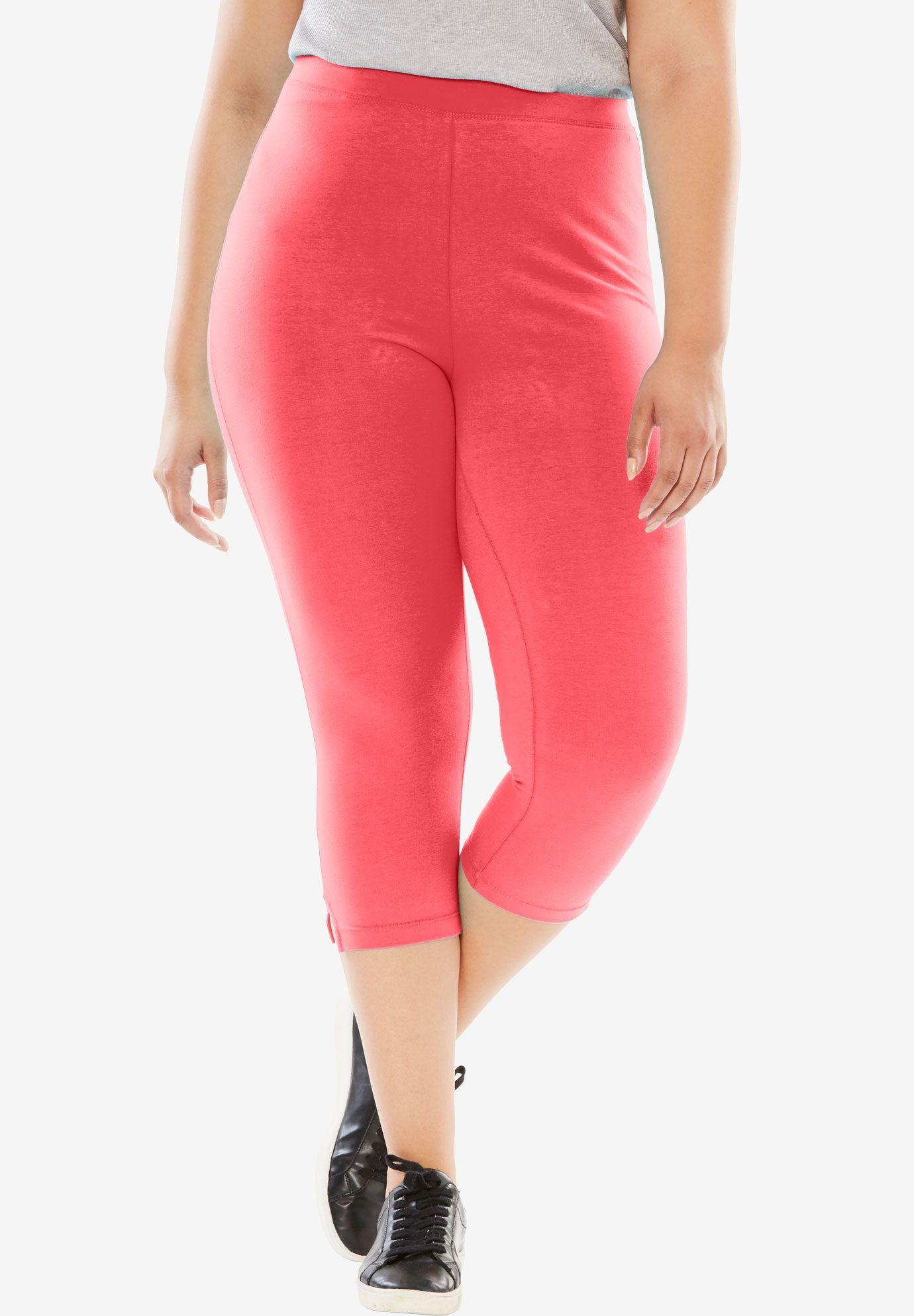 67e082b6e82c3 Stretch Cotton Capri Legging - Women's Plus Size Clothing | Products ...