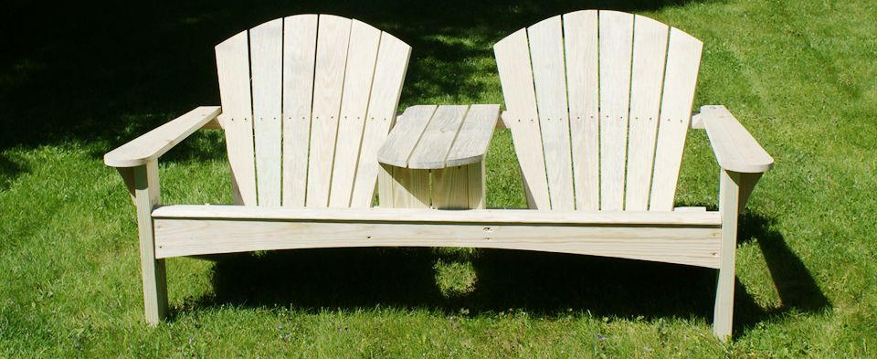 build a double adirondack chair free project plan yellawood adirondack chair plans. Black Bedroom Furniture Sets. Home Design Ideas