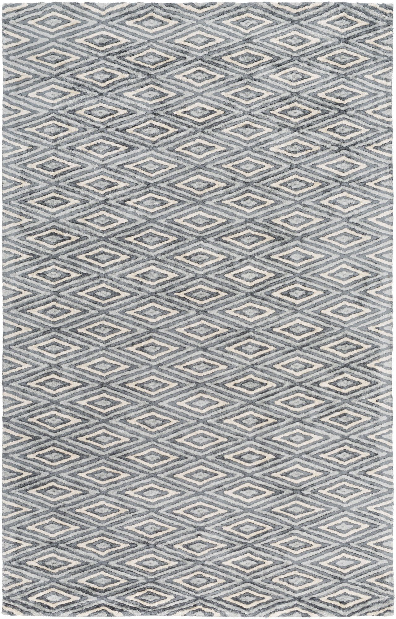 Picabo Hand-Woven Charcoal/Ivory Area Rug