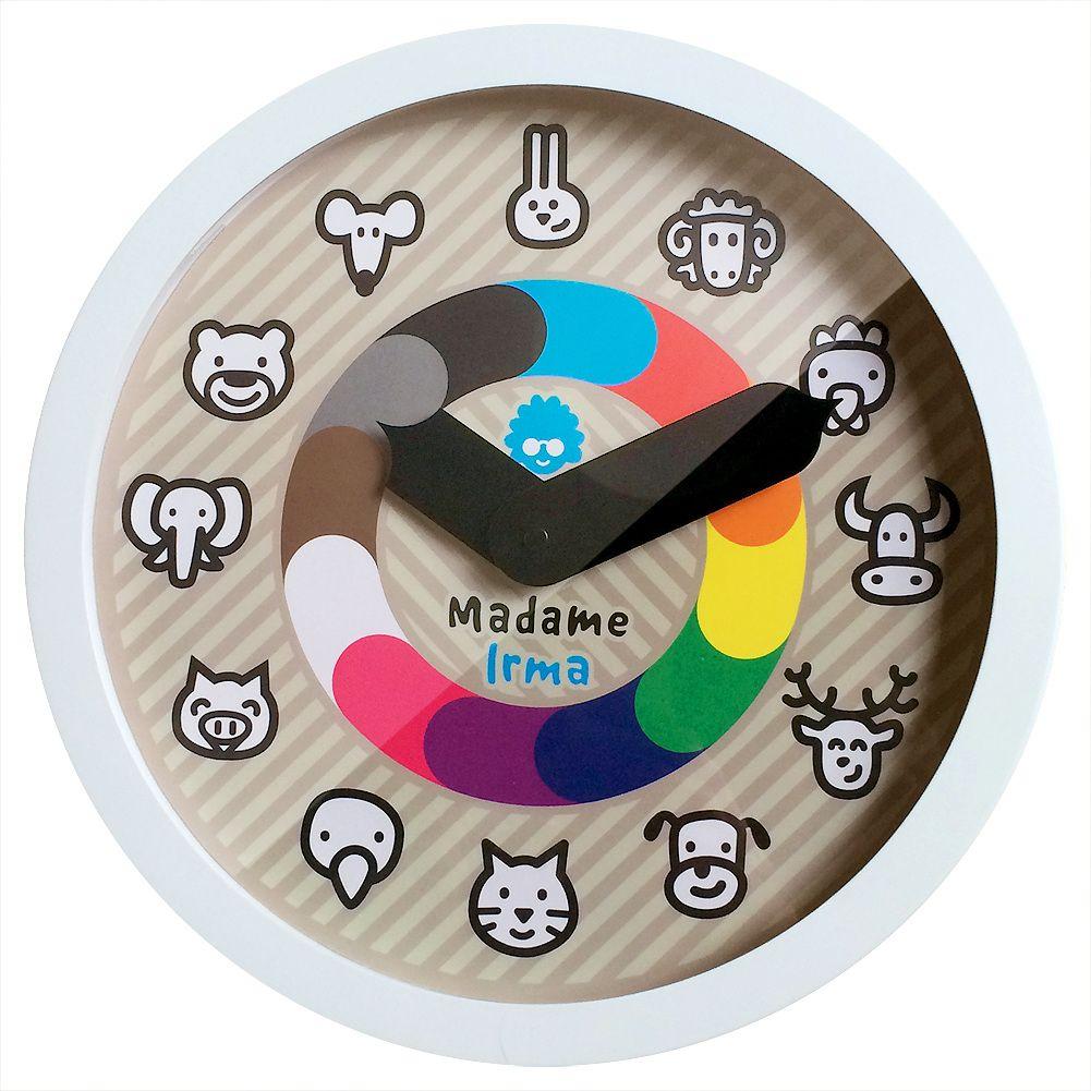 horloge couleurs et animaux minus concept store décoration