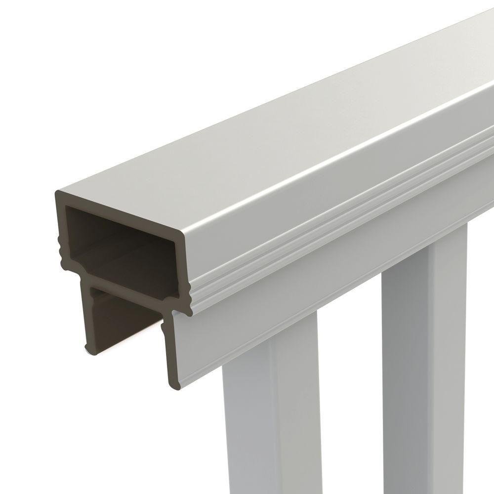 Veranda Pro Rail 6 ft. x 36 in. White PolyComposite Stair ...