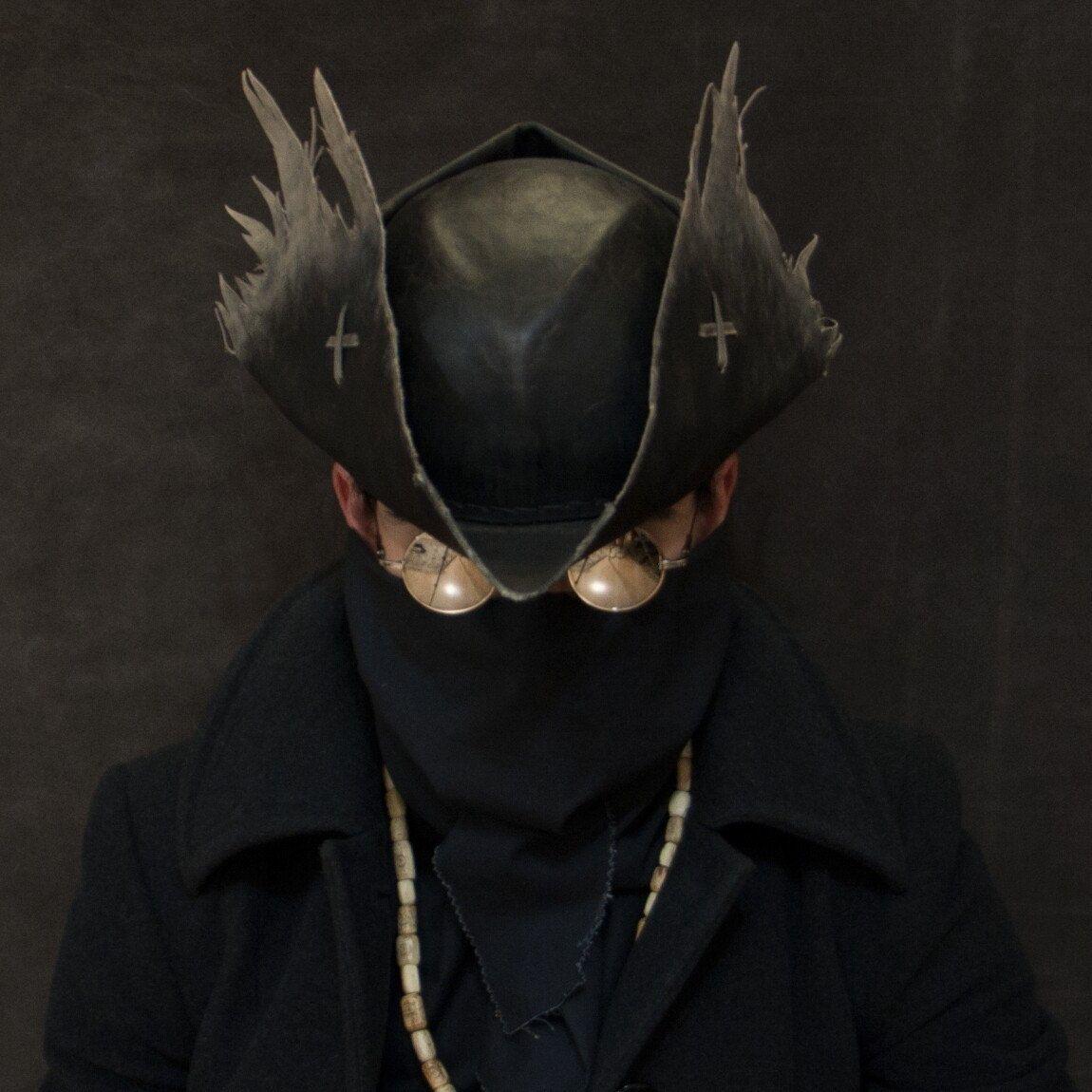 Bloodborne Old Hunter Djura Hat Replica Grey Wolf Cap Larp