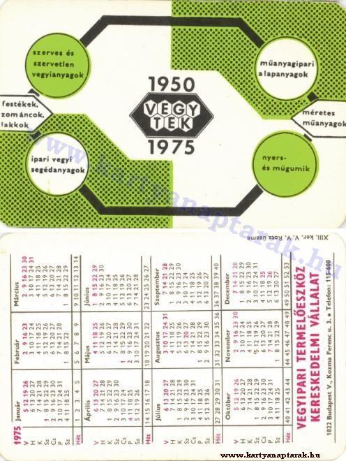 1975 - 1975_0347 - Régi magyar kártyanaptárak