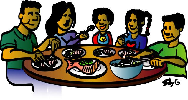 family dinner clipart family dinner clip art images clipartall rh pinterest co uk free clipart family at dinner table clipart family eating dinner