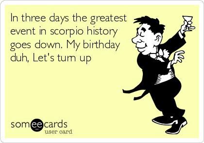 scorpio horoscope ecards