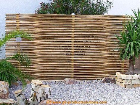Eleganter, exklusiver Sichtschutz aus Bambus