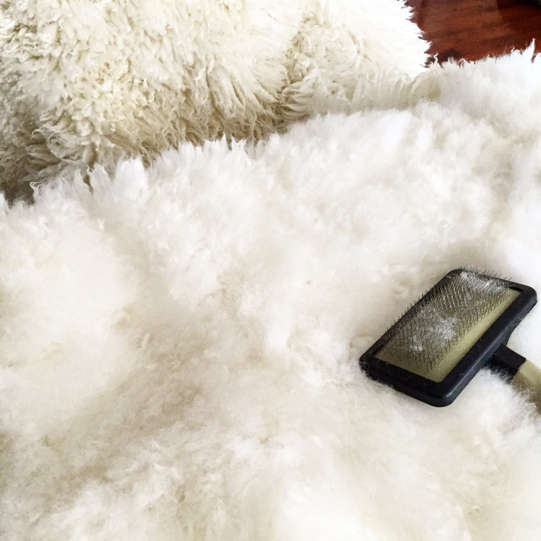 How to Wash Faux Sheepskin Faux sheepskin rug, White