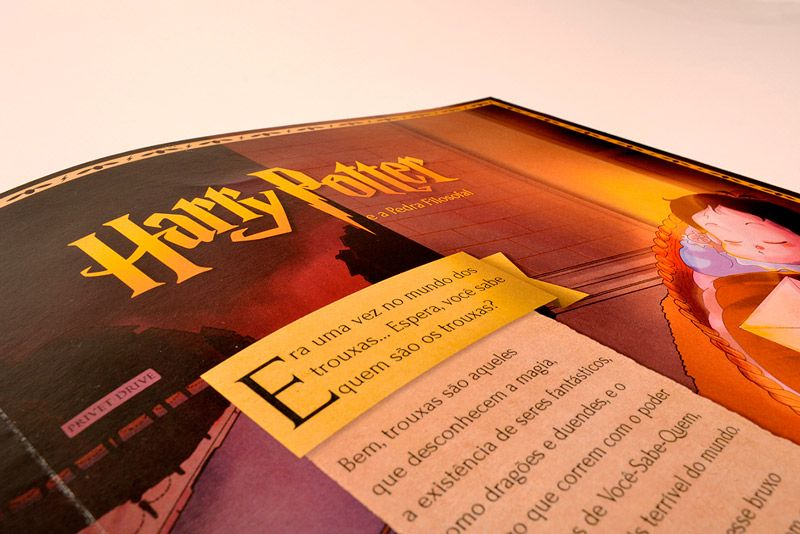 Harry Potter, agora ilustrado e interativo