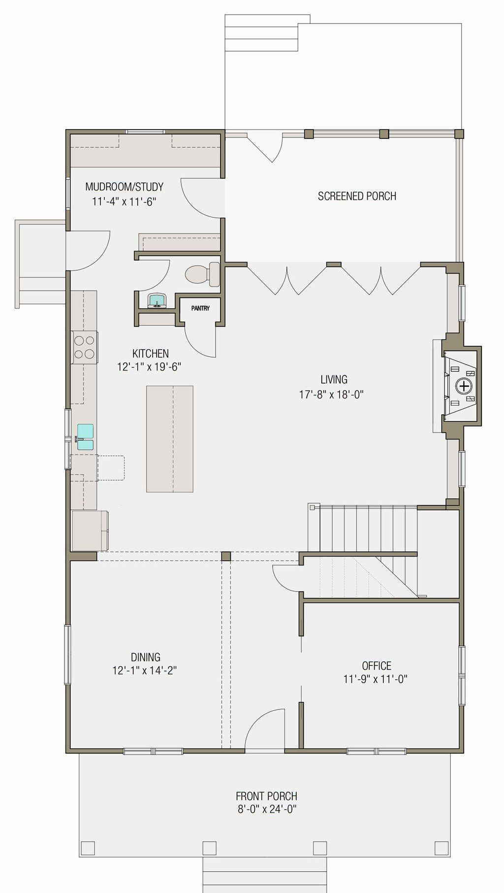 18 X 24 House Plans Beautiful Prairie Style House Plan 4 Beds 2 5 Baths 2460 Sq Ft Plan 461 49 In 2020 House Plans Prairie Style Houses Floor Plans