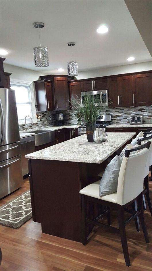 41 Dark Wood Kitchen Designs for that Classy Touch g random