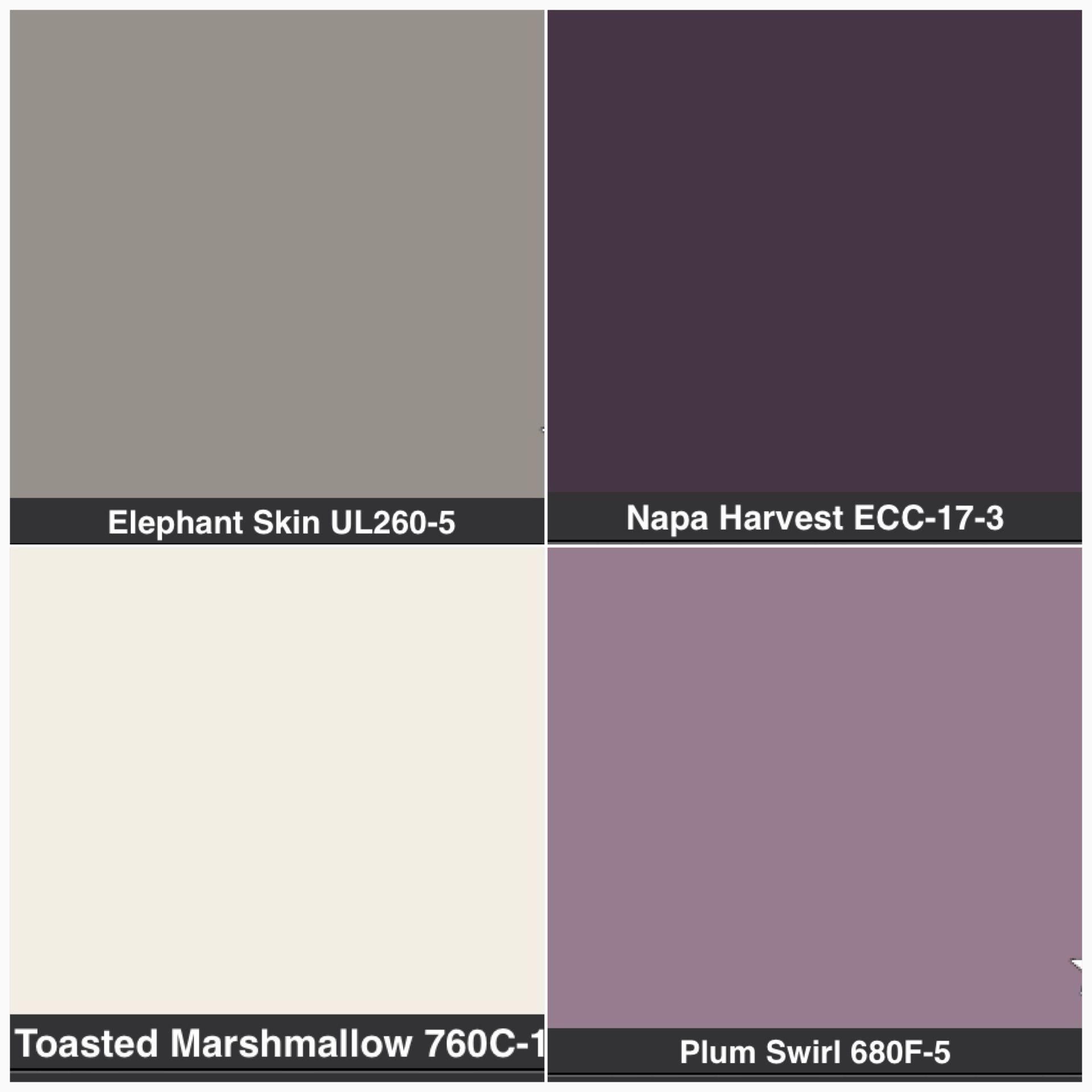 MasterBathroom purple or gray or cream cabinets grey