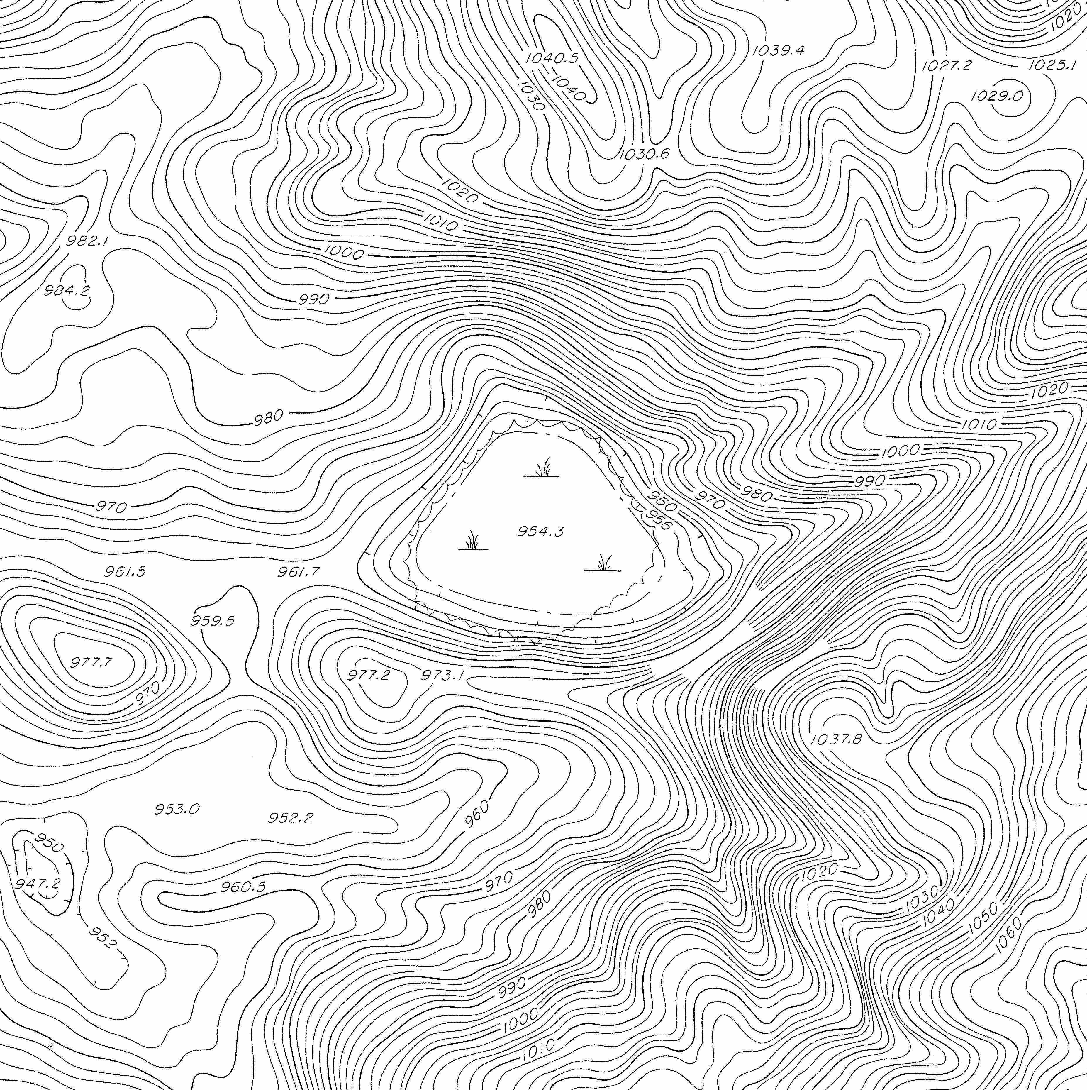Contour Lines Vector