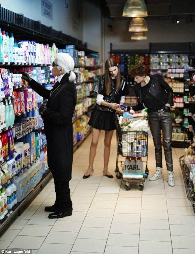 From Runways To Grocery Aisles Karl Lagerfeld Discovers The