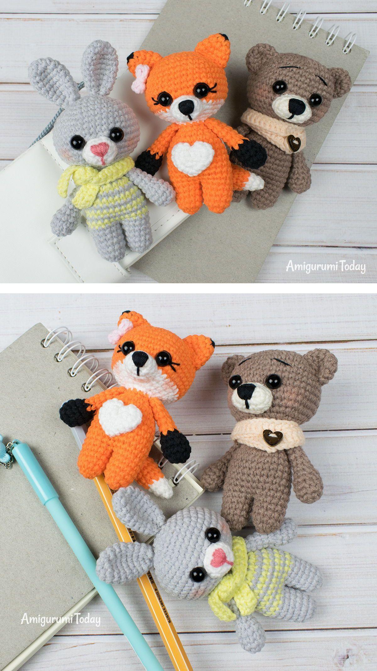 Tiny Animals Crochet Pattern By Amigurumi Today Free Crochet