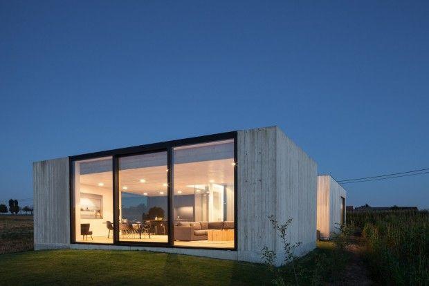 Caswes maison minimaliste en béton et bois par toop architectuur journal du design