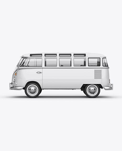 47e05eeeb0e Download PSD Free PSD Mockup Volkswagen Transporter T1 Mockup Left Side View  Object Mockups Free Mockups