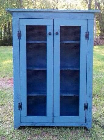 Rustic And Primitive Jelly Cabinet Cupboard On Etsy, $329.00