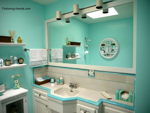 Following Friends Girl Bathroom Decor Colors Aqua