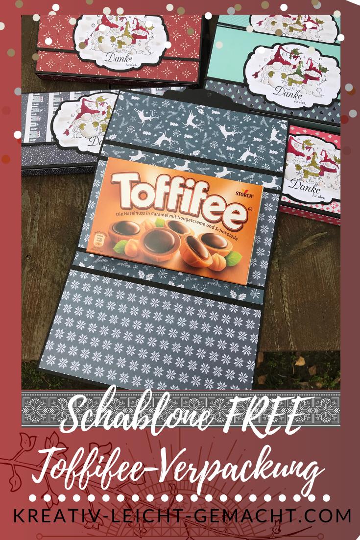 Toffifee Verpackung, Geschenkverpackung PDF FREE, DIY Verpackung