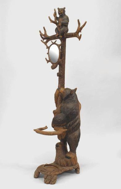 Rustic Black Forest Hatrack Umbrella Stand Standing