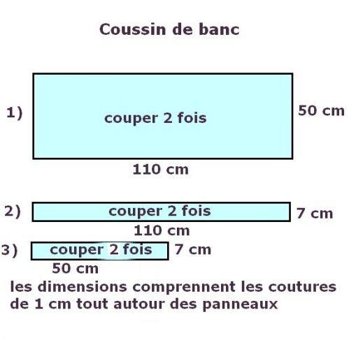 Tuto coussin pour banc | Tuto coussins, Coussin banc et ...