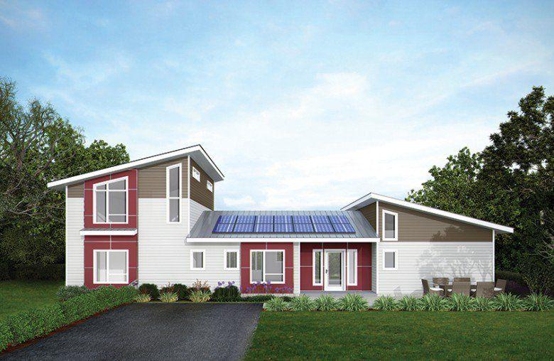 Modern prefabricated homes garage homes pinterest for Deltec homes cost