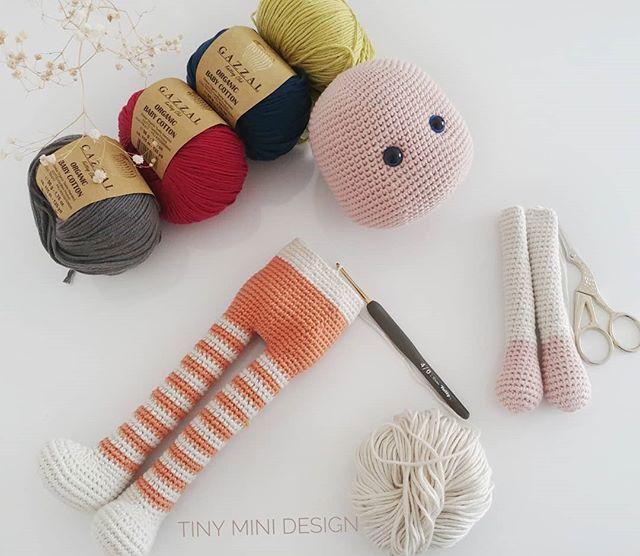 Amigurumi Erkek Tavşan Yapılışı- Amigurumi Crackers Bunny Free Pattern - Tiny Mini Design #crochettoysanddolls