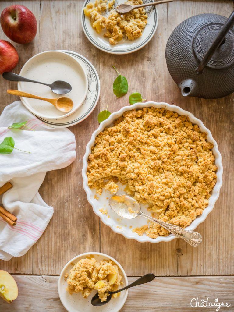 Crumble aux pommes - un dessert tout simplement bon