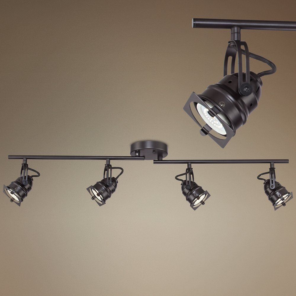 hamilton 4 light swing arm bronze led track fixture amazon com