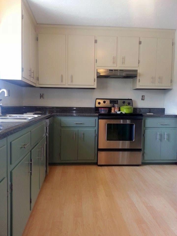 Linen And Basil Kitchen Cabinets. Kitchen CupboardsKitchen RedoKitchen IdeasGeneral  FinishesKitchen RenovationsBasilMilk PaintNerdyLinens