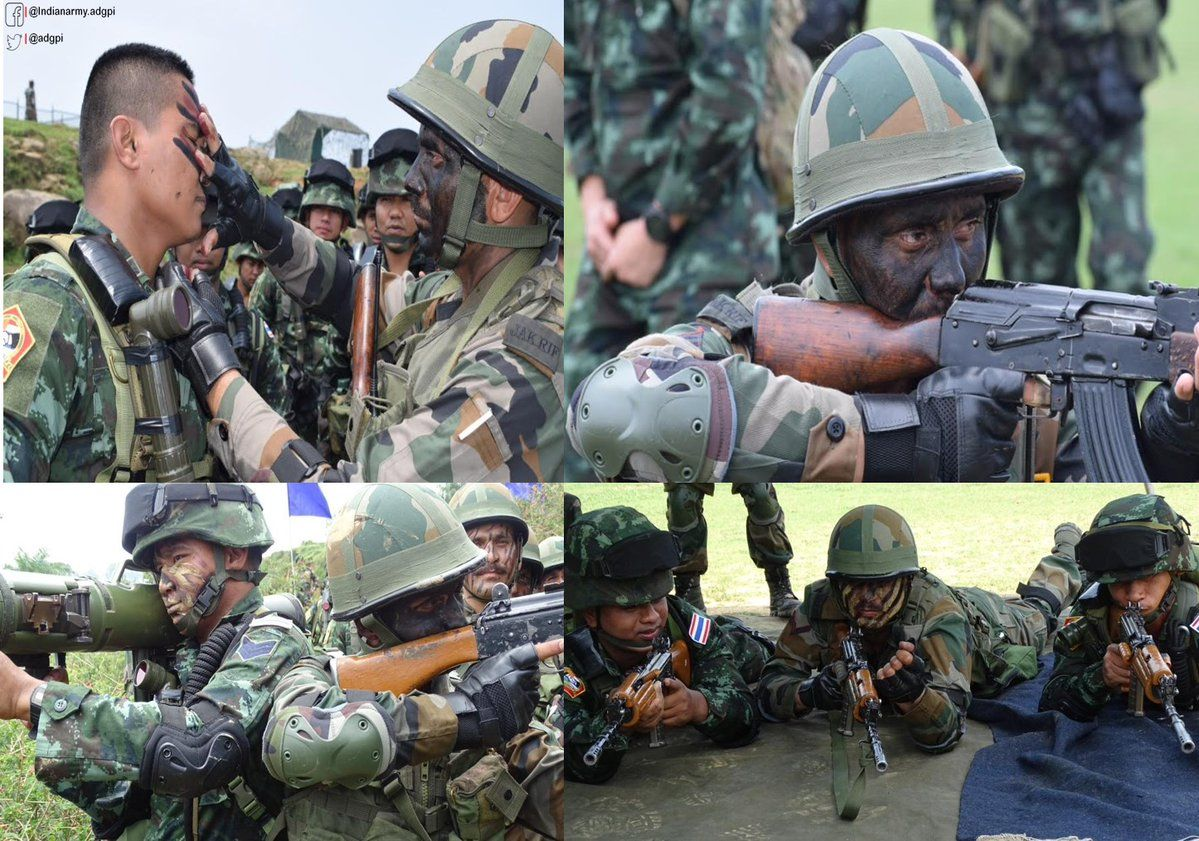 #IndianArmy & #RoyalThailandArmy troops rehearsed nuances of Patrolling in a Counter Insurgency Environment #http://ExMaitree17pic.twitter.com/A1az4a9D3K #IndianArmy #Army