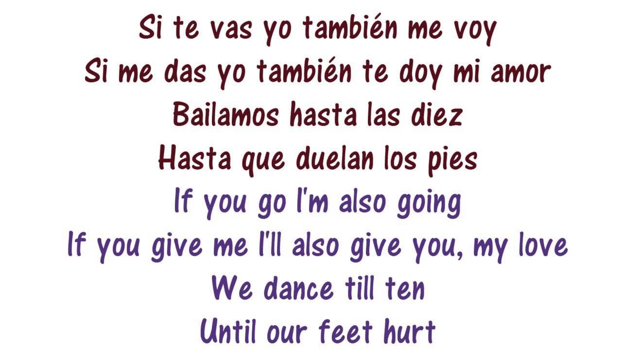 Enrique iglesias spanish lyrics