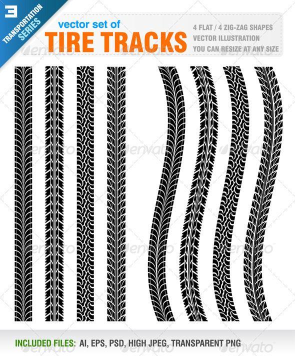 Tire Tracks Tire Tracks Tire Tire Vector