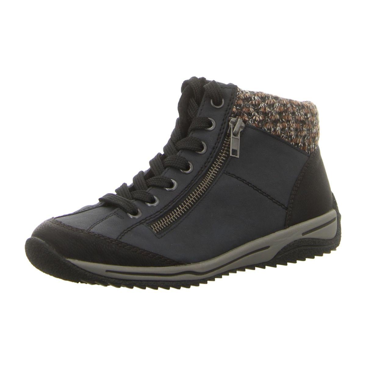 Rieker Schuhe Stiefelette L6904-45 grau kombi (grau) NEU