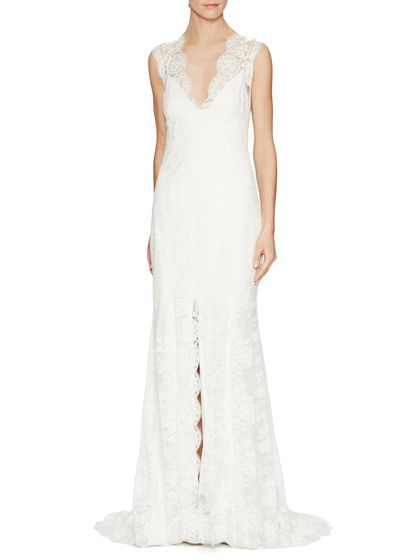 Chantilly Lace Open Back Bridal Gown by BLISS Monique ...