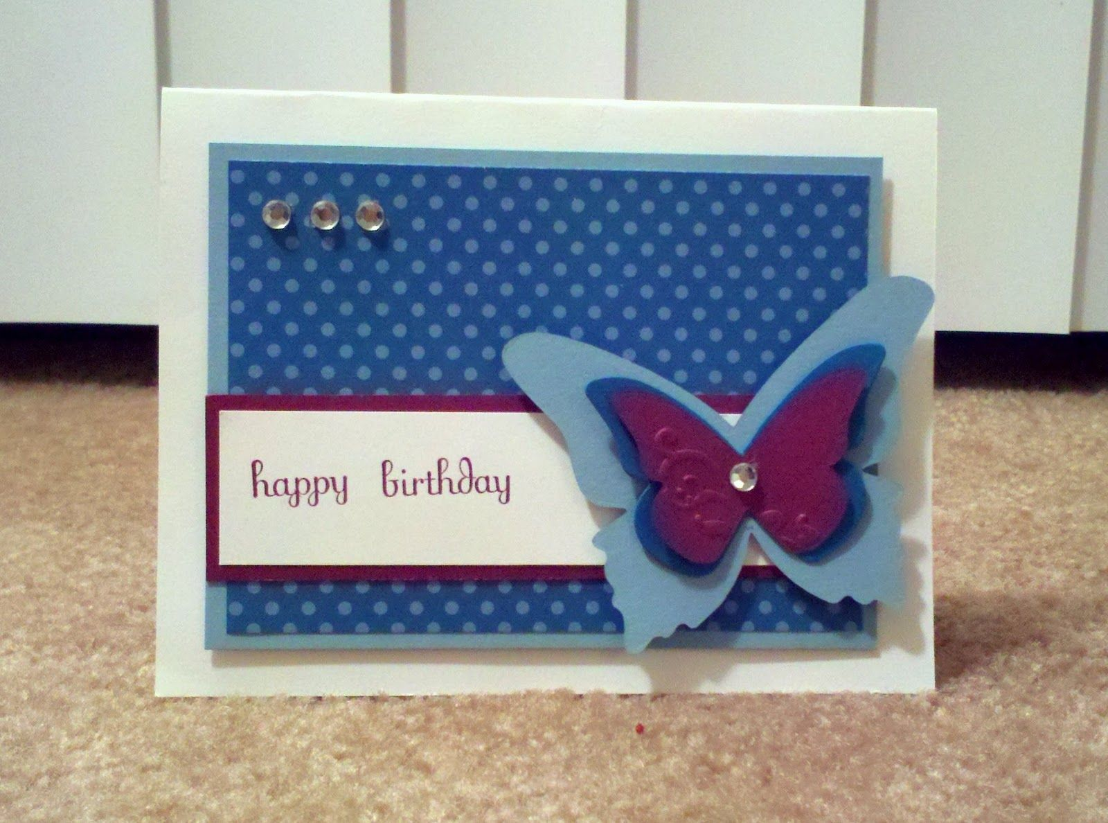 Stampin Elizabeth: Baja Razzle Island Birthday Butterfly
