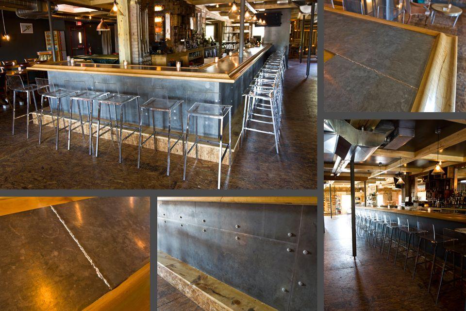 Zinc Bar Www Metaloffmain Com Metal Restaurant Metal Bar Bar Design