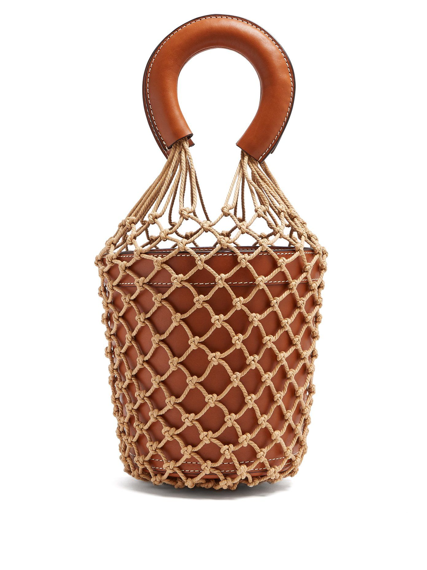 ed0182214c49 Click here to buy Staud Moreau macrame and leather bucket bag at  MATCHESFASHION.COM
