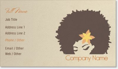 African american hair standard business cards african american african american hair standard business cards colourmoves Images