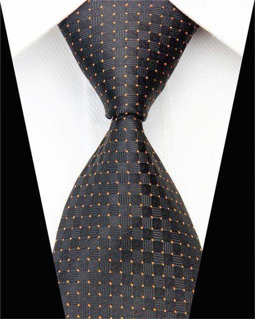 Men's Formal Business Silk Necktie Woven Geometric Pattern