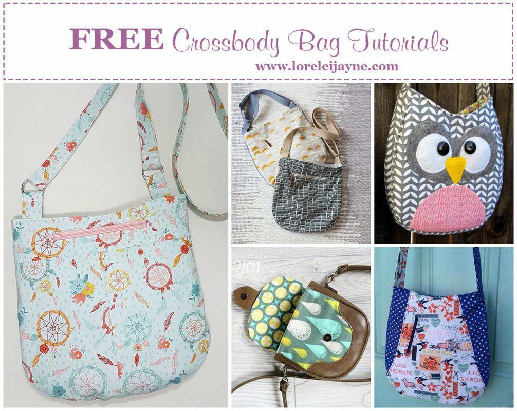 FREE Crossbody bag tutorials | sew bags | Pinterest | Mochilas y Bolsos