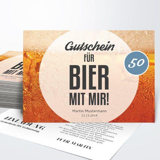 gutschein bier horizontal einfach 148x105 karamell