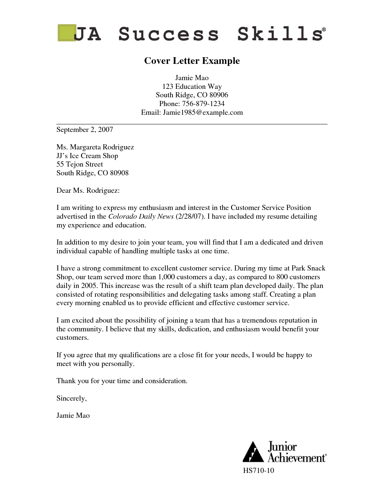job cover letter format pdf sample application for applying basic appication - Good Cover Letter