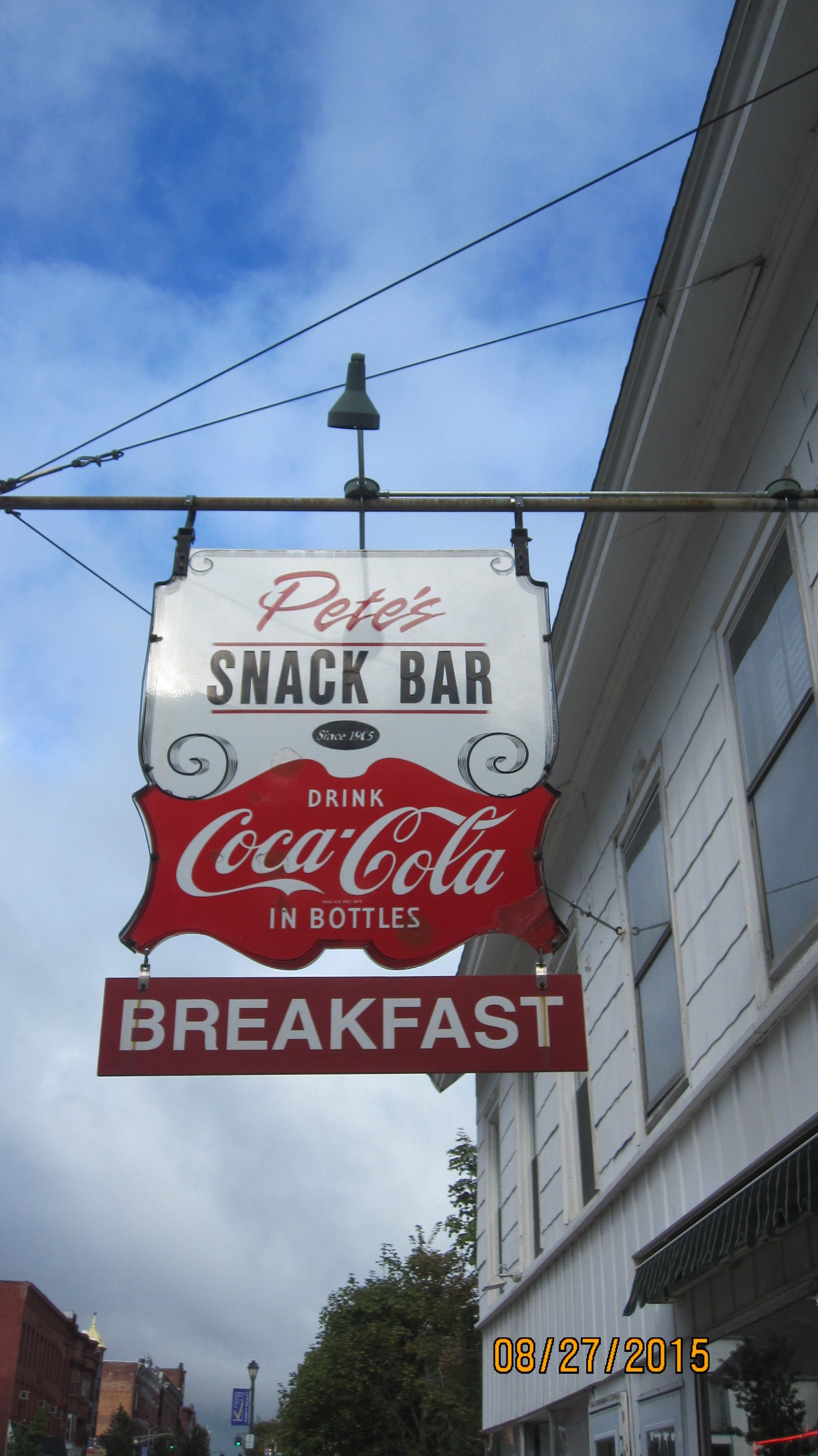 Pete S Snack Bar On Main Street In Johnstown Ny Serving The Area Since 1905