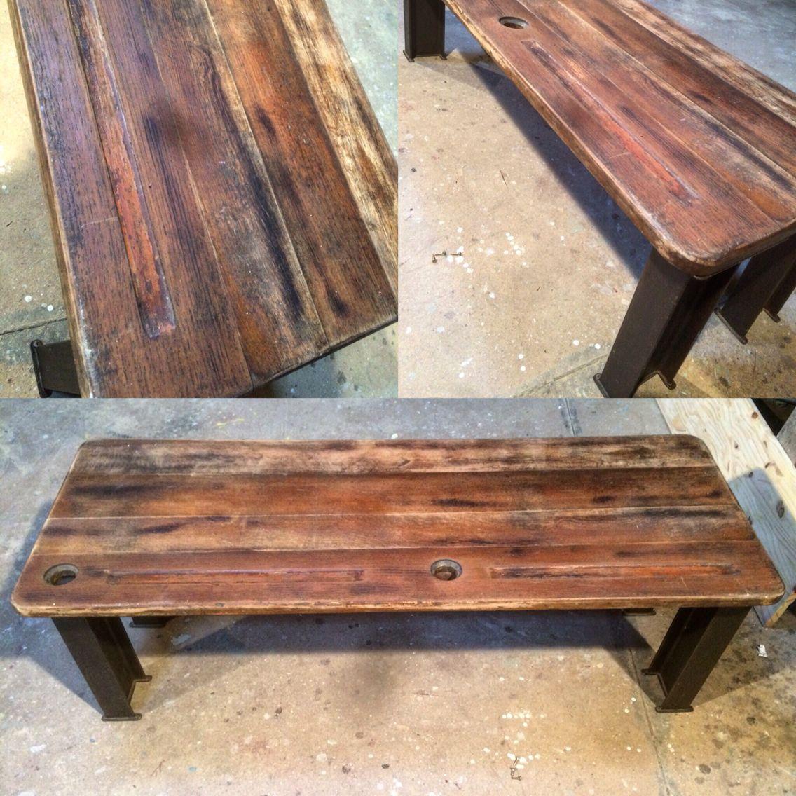 Table Basse Plateau Bureau Ecolier Ancien Avec Son Tiroir