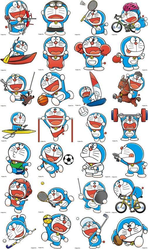Doraemon Olympic 2020 Ambassador Kartun Stiker Doraemon