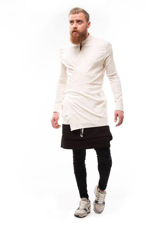 890b70e3f36f White  Kimono  Shirt   Белая Мужская Рубашка  Кимоно Color  White Linel 100