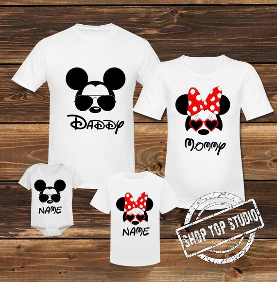 8cea9070f Mickey Mouse Family Shirt Minnie Mouse Family T- Shirt Disney Family Shirt  Mickey Mouse Birthday Top